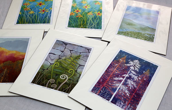 Selection of mounted prints