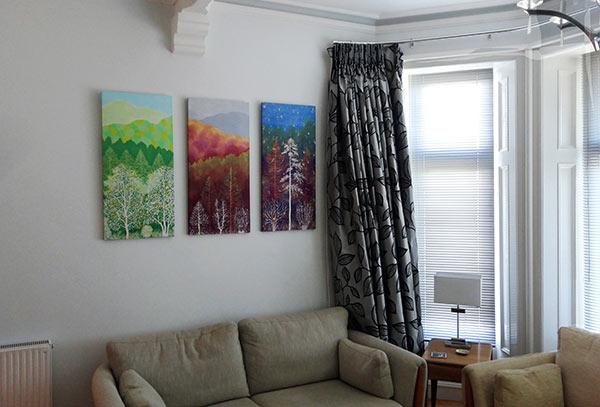 Silk wall panels