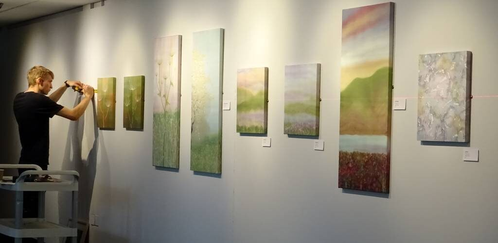 Hue and Dye Exhibition of Painted Silks by Margaret Wilmot