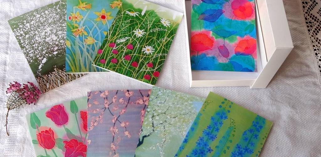 Hue and Dye Greeting Cards set