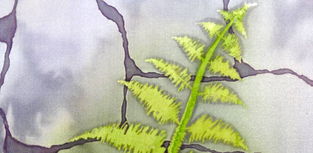 Hue and Dye painted silk detail M Wilmot