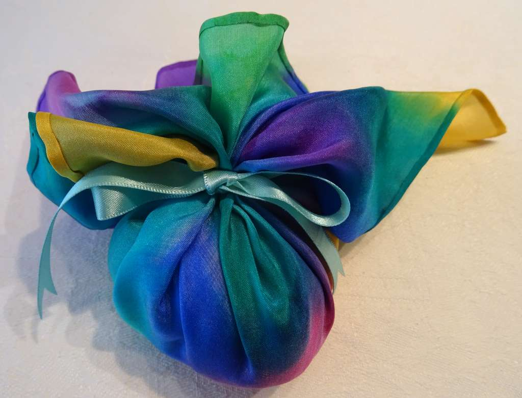 Multi-Coloured with Pale Blue Ribbon (SOLD)