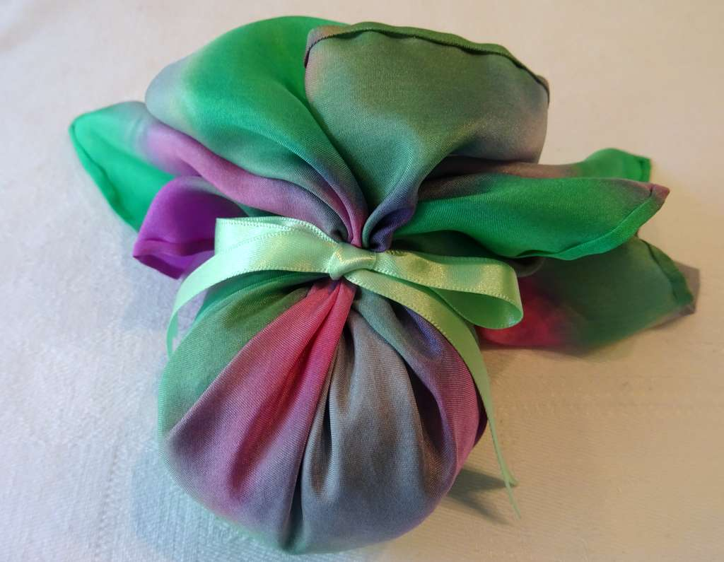 Pinks, Greens and Silver with Pale Green Ribbon