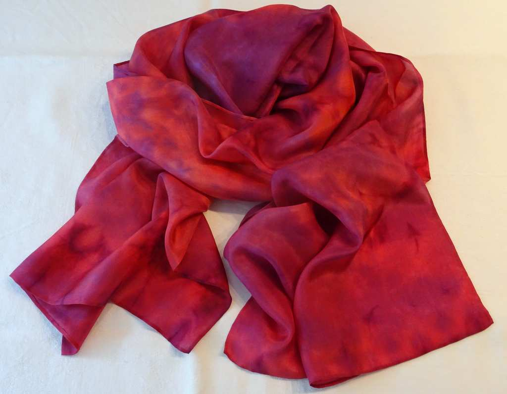 `Red Wine` (Shibori Technique Reds and Purples)