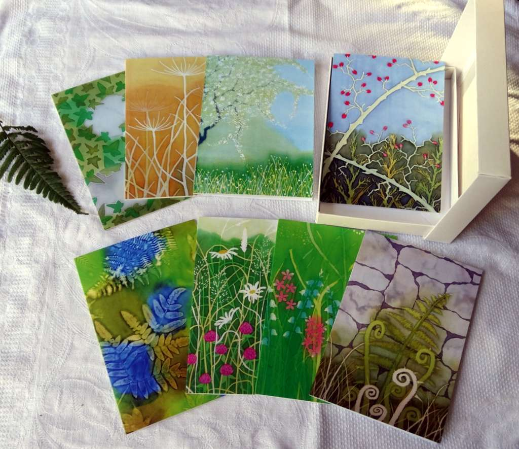 Artists Greeting Cards set, 8 cards and envelopes, Hedgerow Theme £12.00
