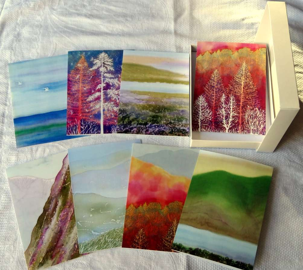 Artists Greeting Cards set, 8 cards and envelopes, Landscape Theme £12.00