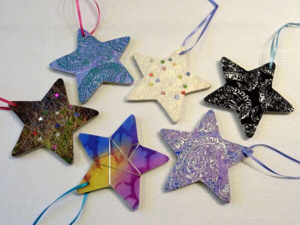 Star Decorations by Margaret Wilmot Hue and Dye