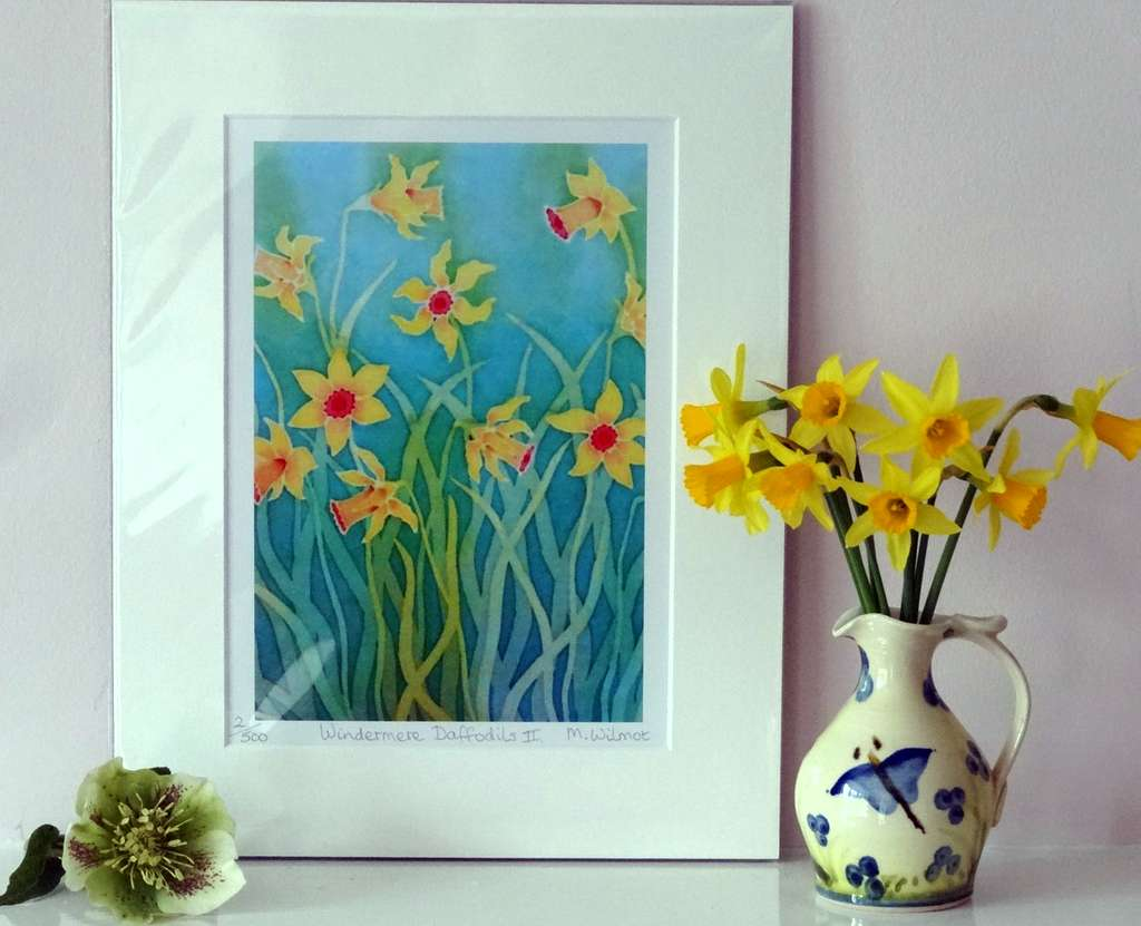 Windermere Daffodils 2, signed limited edition print, 22 x 28 cm