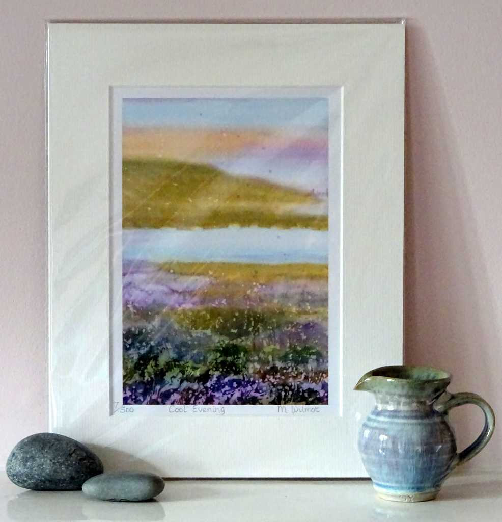 DP04 Cool Evening Signed Limited Edition Print from an original silk painting, 22 x 28cm
