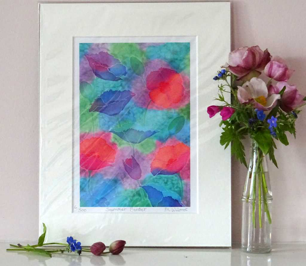 DP13 Summer Border Signed Limited Edition Print from an original silk painting, 22 x 28cm
