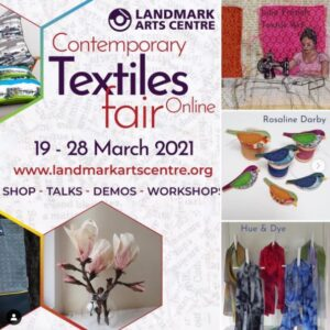 Contemporary Textiles Fair poster 2021